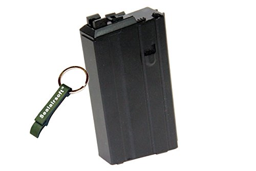 WE 20rds Open Bolt Airsoft Gas M16 VN Magazine For WE SCAR L85 M4 Series GBB BK -Mobile Ring Included