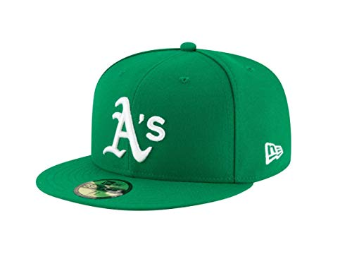 New Era 59Fifty Hat Oakland Athletics Alternate Green Fitted Cap 70376388 (7 3/8) ()