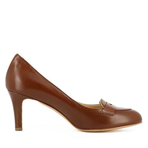 Evita Escarpins Cuir Lisse Femme Cognac Shoes Bianca 14xrTwAZ1q