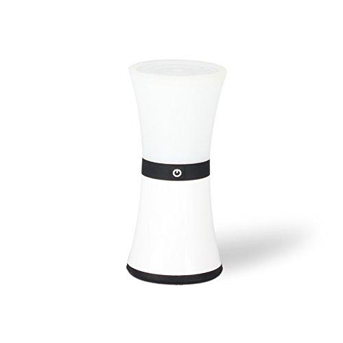 LED Tischlampe & Stimmungslichter, Minkle Living Color Nachttischlampe, USB Aufladbar, Weiß