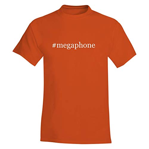 The Town Butler #Megaphone - A Hashtag Soft & Comfortable Men's T-Shirt, Orange, Small
