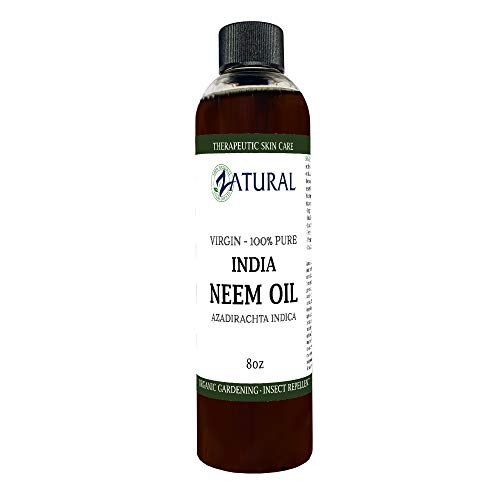 - Zatural Organic Virgin Neem Oil 8 Ounce: 100% Natural Pure Cold Pressed No Additives, Unrefined Concentrate for Body and Skin, Pets, and Plants or Garden