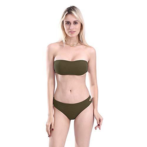Green Bikini In Bei Swimsuit Small yi Bikini Bagno fashion Motivo M 51547bikini Con Da Dimensioni Costume Tinta Fresh colore Split Traforato Sexy Unita Bianca fgqvf