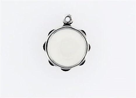 Amazon.com: Colgante de plata de ley esmaltada de Tambourine ...