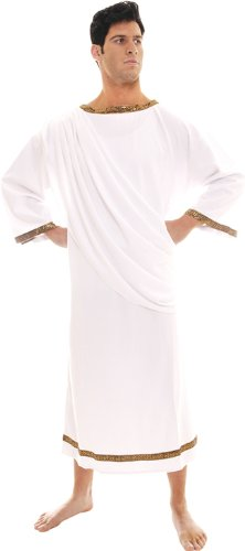 Underwraps Men's Roman Emperor, White, One Size (Roman Empire Costume)