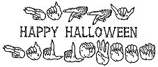 Happy Halloween Captioned Rubber Stamp -
