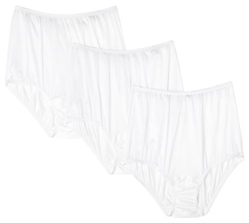 Vanity Fair Women's Perfectly Yours Ravissant Tailored Nylon Brief (Pack of 3),White,Large/7 ()