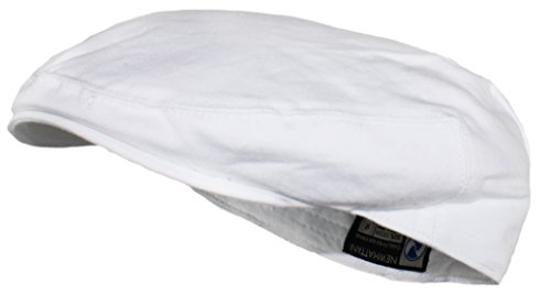 Ted and Jack - Street Easy Traditional Solid Cotton Newsboy Cap in White Size Large