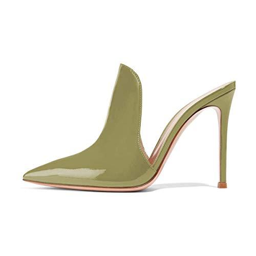 Mulattiere Scorrono 15 Degli D'ulivo Lucida Tacchi Pantofole Cm Uniti 4 Fsj Stiletto Scarpe Su 12 Scivolare Sandali Alti Stati Donne Dimensioni Z6wWIE