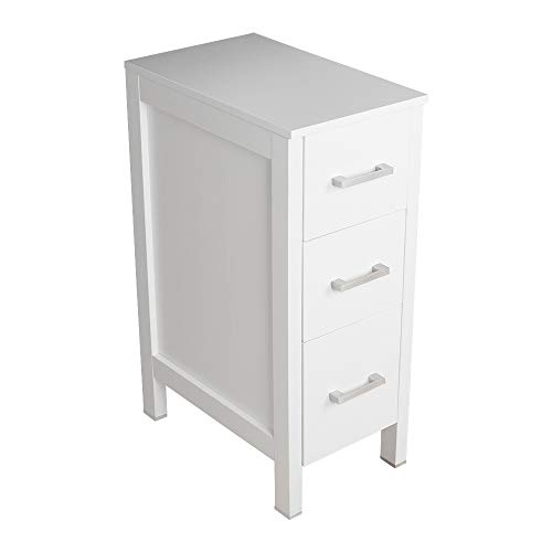 Bathroom Drawer Organizer,Free Standing Single Vanity,Nightstand,12