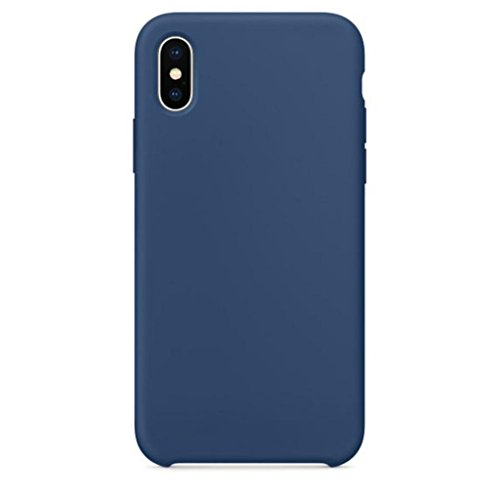Livoty for iPhone X Case New Official Soft Silicone Case Cover for iPhone X Boxed (Dark Blue)
