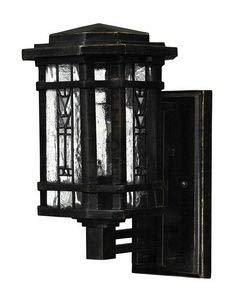 Hinkley 2246RB Tahoe Brass Outdoor Lantern Fixture, Regency Bronze - Hand-Crafted Copper Foil Art Glass Panels ()