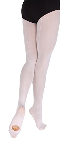 - Body Wrappers Convertible Backseam Tights, Theatrical Pink, 4-7