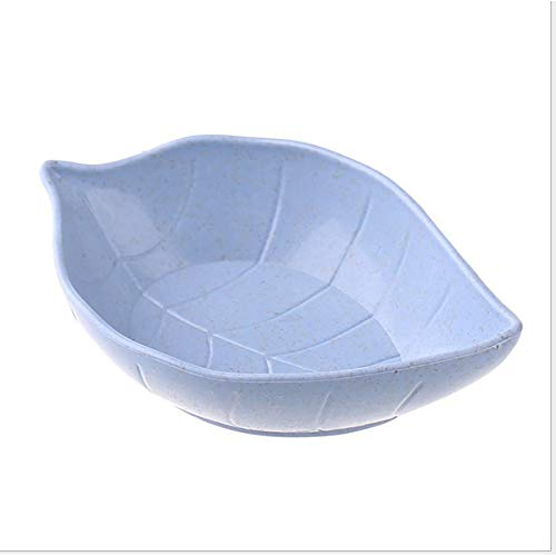 Leoie Wheat Straw Leaf Shape Sauce Dipping Seasoning Dish for Snacks Pickles blue