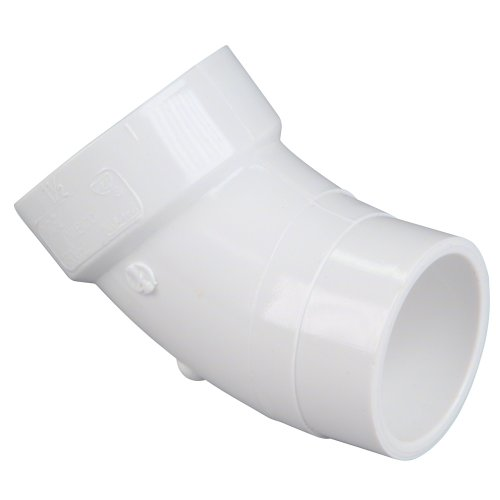 - NIBCO 4806-2 Series PVC DWV Pipe Fitting, 45 Degree Elbow, 1-1/2