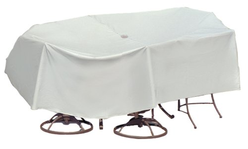 UPC 614845011574, Protective Covers Weatherproof Patio Table and Chair Set Cover, 60 Inch x 66 Inch, Oval/Rectangle Table, Gray