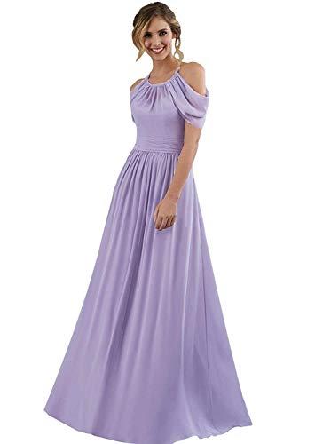 c464a98c35d Home Brands MARSEN Dresses Bridesmaid Dresses Long Halter Off Shoulder  Chiffon Backless Evening Prom Gowns Light Sky Blue Size 16.   