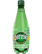 Perrier Carbonated Natural Spring Sparkling Water, Original, 500mL Plastic Bottle, 24 Bottles Total - Packaging May Vary