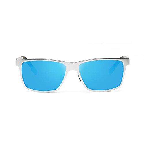 Anti De Azul Gafas Luz Hombres UV Sol WYYY De UVA Plata Gafas Cuadrada 100 Color Clásico La Gafas Aire Protección Caja Protección Polarizada Conducción Solar Libre xdTAXwXq