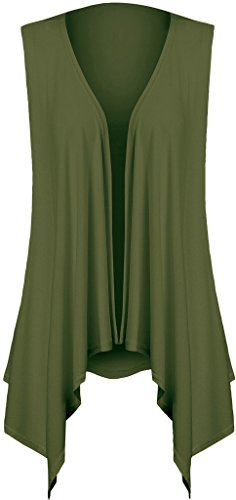 Sleeveless Cardigans for Women Plus Size(M,Army Green)