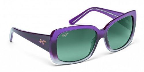 Fade Frame Polarized Grey Lens (Maui Jim Lani GS239-28 Polarized Square Sunglasses,Amethyst Fade To Crystal Frame/Neutral Grey Lens,One)