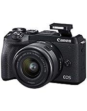 Canon EOS M6 Mark II Digital Camera Ef-M 15-45mm F/3.5-6.3 IS STM Lens
