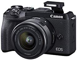 The best Canon Mirrorless camera [EOS M6 Mark II] for Vlogging + 15-45mm lens|CMOS (APS-C) Sensor| Dual Pixel CMOS Auto Focus| Wi-Fi |Bluetooth and 4K Video top rated and best prices