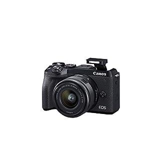 Canon Mirrorless camera [EOS M6 Mark II] for Vlogging + 15-45mm lens|CMOS (APS-C) Sensor| Dual Pixel CMOS Auto Focus| Wi-Fi |Bluetooth and 4K Video