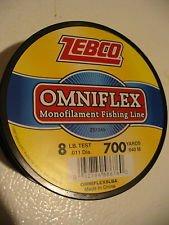 Zebco 8lb Test Omniflex Monofilament Fishing Line 700 Yards