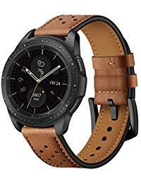 Quick Release Brown Leather Watch Bands 20mm Fit Samsung Galaxy Watch 42mm/Samsung Gear Sport/Samsung Gear S2 Mens Womens