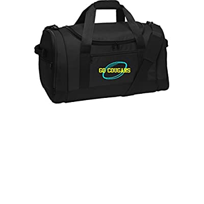 663233eaaf71 chic Personalized Football Voyager Sports Duffel Bag (Black ...