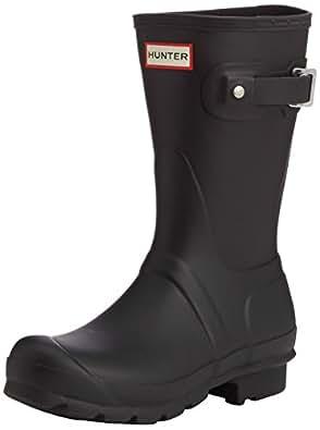 Hunter Short, Botas de Lluvia para Mujer, Negro (Black), 36 EU