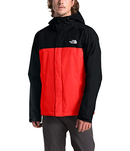 The North Face Men's Venture 2 Jacket, Fiery Red/TNF Black, XS