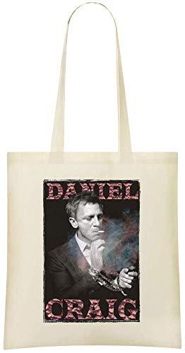 Bags Shopping Handbag Eco Printed Portrait Naturel Everyday Stylish Tote Cotton Custom amp; Craig Soft For Grocery 100 friendly Shoulder Bag Daniel Use wRpZIqAxB