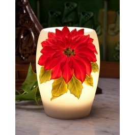 Red Poinsettia Night Lamp By Ibis & Orchid Design