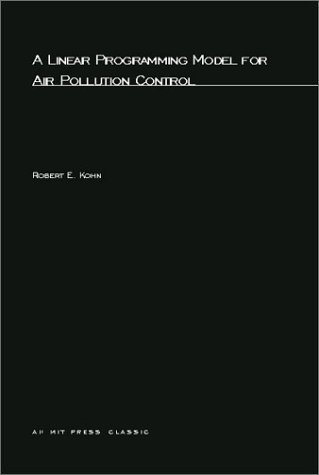 A Linear Programming Model for Air Pollution Control (MIT Press) PDF