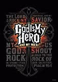 God is My Hero Christian Poster - Religious & Inspirational Posters