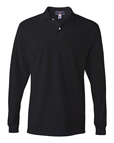 jerzees-56-oz-50-50-long-sleeve-jersey-polo-with-spotshield-xl-black