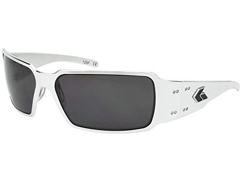 Gatorz Eyewear, Boxster Model, Aluminum Frame Sunglasses - Polish/Smoked Polarized Lens