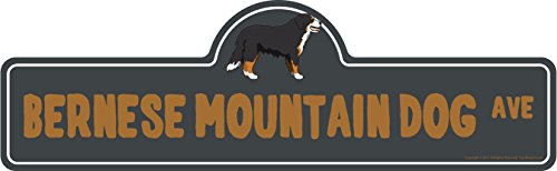 Bernese Mountain Dog Street Sign | Indoor/Outdoor | Dog Lover Funny Home Décor for Garages, Living Rooms, Bedroom, Offices | SignMission Personalized Gift | 18