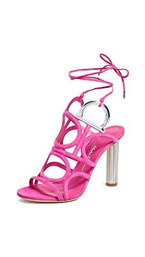 SALVATORE FERRAGAMO Women's Vinci X5 Sandals, Bubble Gum, Pink, 9 M US