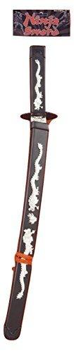 Forum Novelties 59016 Toy Ninja Samurai Warrior Sword Weapon Sheath Costume Accessory, Black/Silver, 24