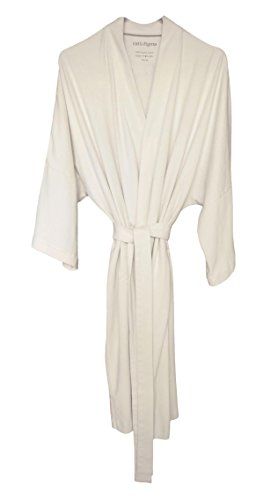 (Cat & Dogma Women's Soft Organic Cotton Kimono Bath Robe (One Size/Natural))
