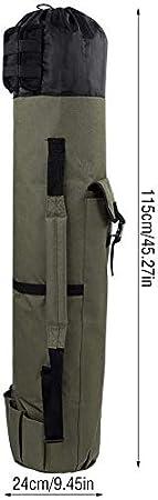Kescher und Rutenhalter Klapp Angelrute Fall Angelrute Outdoor Tackle Aufbewahrungstasche Verstellbarer Schultergurt Ejoyous Fishing Equipment Allround Rutentasche Angeln Tasche f/¨/¹r Angelruten