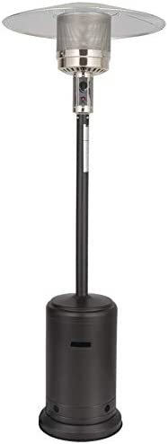 UPHA 46000 BTU Commercial Gas Outdoor Patio Heater with Sandbox and Wheels, 87-inch, Mocha Powder Coated