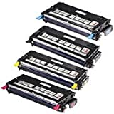 Combo Pack Dell Laser Printer 3130cn Toner Cartridge – 1 of B, C, M, Y (High Yield, 9K) Remanufactured, Office Central
