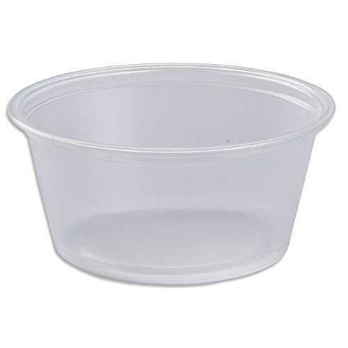 2oz. Plastic Disposable Portion Cups - Sleeve of 100 Count - Jello Shots, Slime Cups, Souffle Cups, Portion Cups, Sauce Cups, Dressing Cups, Condiment containers
