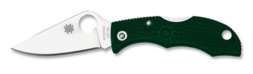 Spyderco Ladybug 3 Plain Edge Folding Knife, British Racing Green by Spyderco