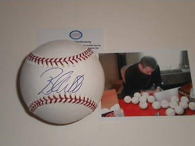 Brandon Webb Texas Rangers Signed MLB Baseball w/pic