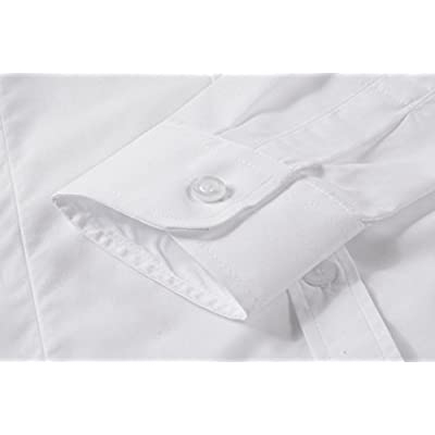 Women's Formal Work Wear White Simple Shirt at Women's Clothing store